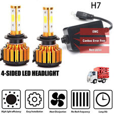 2X H7 LED Headlight CANBUS 380W 6500K Bulb Lamp  High Low Beam Conversion Kit