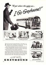 "1950 Greyhound Bus art ""To Get Where the Sales Are"" vintage promo print ad"