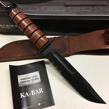 KNIFE COLTELLO KA-BAR USMC **ORIGINALE 100% MADE IN USA** SURVIVOR CACCIA (1218)