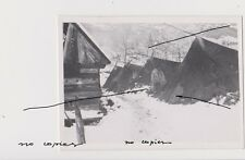 Holocaust Old Romania Photo WWII Gypsy man near tents Winter