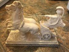 A. Santini Roman Chariot Horse Sculpture 5.5 x 14.5 Statue Classic Figure Italy
