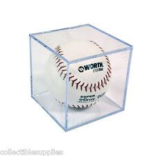 New Softball Square Display Case Cube Holder