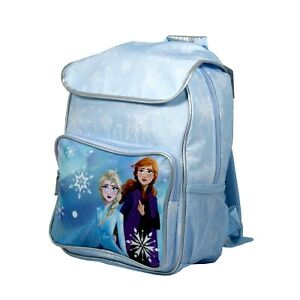Disney Collection Frozen Grils School Backpack Light Blue Snowflake Pattern New