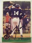DONNY LEON signed YANKEES 1999 Just Minors baseball card AUTO NORWICH NAVIGATORS