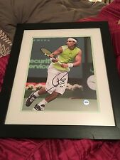 Signed Rafa Nadal Action Shot Framed  - No.35 Of 50 CofA Included
