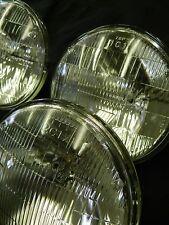 63-67 Corvette Headlight bulb set w/ cups & trim rings Correct Sealed Beam