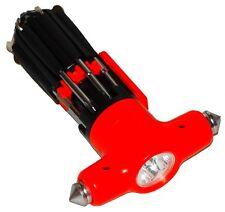 Marteau d'urgence brise-vitre glace auto voiture multifonction torche  tournevis