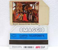 """SCHEDA TELEFONICA-OMAGGIO PRIVATE G OP 15-""""BOTTICELLI""""-10 SCATTI-USATO"""