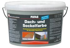 (6,50€/L) Pufas Dachfarbe und Sockelfarbe steingrau    5L