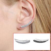 STERLING SILVER 925 SWEEP UP EARRINGS EAR CRAWLER EARRINGS EAR CLIMBER  0089