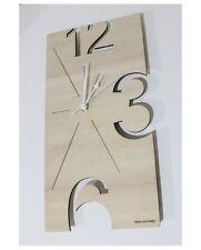 Orologio da parete da muro in legno design artigianale made in Italy intarsio