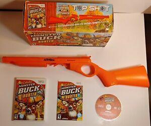 Nintendo Wii Cabela's Monster Buck Hunter Game and Top Shot Activision Gun RARE