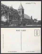 Old Postcard - Keene, New Hampshire - St. Bernard's Church