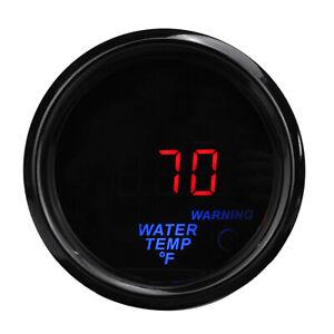 "2"" 52mm Water Temperature Gauge Meter Fahrenheit Car Auto LED Digital w/ Sensor"