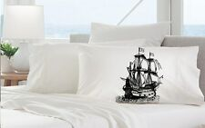 One Clipper Ship Pillowcase, Nautical Pillowcase, Nautical Decor, Pillow cover