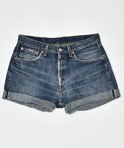 LEVI'S Mens 501 Denim Hot Pants Large W32 Blue Cotton Classic GZ01