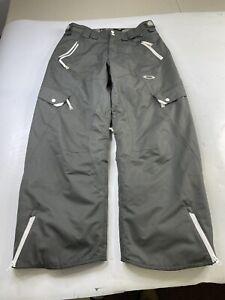 Oakley Snowboard Ski Pants Loose Fit Waterproof Insulated Gray Men's Medium