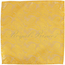 Paisley Handkerchief Only Pocket Square Hanky BRIGHT GOLD Wedding Party