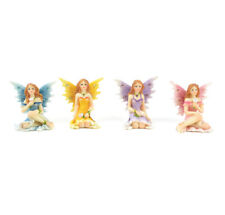 "Shimmer Sitting Fairies - Set of 4 - 1.25"" x 1.75"" - Miniature Fairy Garden"
