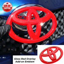 For Toyota 4Runner Camry Prius C Red Front Grille Overlay Add-On Logo Emblem