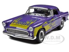 1956 FORD THUNDERBIRD STREET ROD PURPLE 1:24 MODEL CAR BY UNIQUE REPLICAS 18512