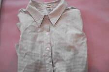 Woman's XL Stretch Green Check Cotton Spandex Blouse