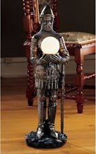 Medieval Sir Percival Gothic Knight Lamp Illuminated Sculpture
