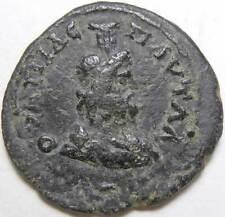 Septimius Severus Thrace Pautalia AE20 Head of Serapis
