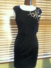 Moschino Cheap Chic Black Jersey Dress Ribbon Detail SZ 8 GORGEOUS NWOT $860.00
