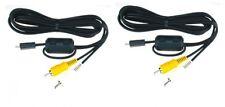 2 CASIO AV Cables for EXZ250 EX-Z1050GD EX-Z330 EX-Z400 EX-Z1050BE EX-Z1050BK