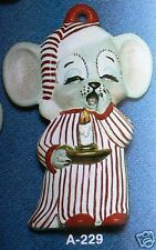 Ceramic Bisque Ornament Mouse in Nightshirt Alberta 229 U-Paint Ready To Paint