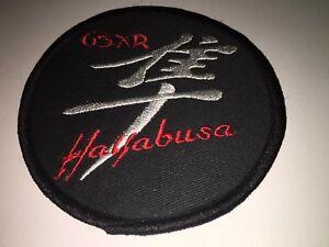 Embroidered Hayabusa Patch Badge Busa Biker Gsxr1300 Suzuki