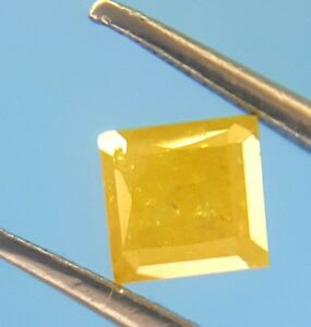 Top fire 0.40TCW Yellow Color Princess Shape Antique Natural Loose Diamond
