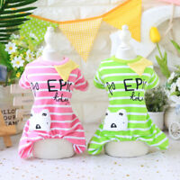 Dog Pajamas Cartoon 100% Cotton Soft Clothes Pet Puppy Jumpsuit Apparel XS-XL