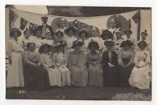 Edwardian Pierrots / Entertainers Circa 1905 / 1910 Vintage RP Postcard 831b