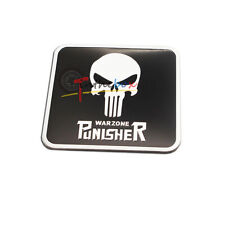 (1) The Punisher Skull War Rear Bumper Trunk License Plate SideBar Sticker Badge