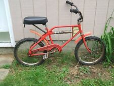 "Huffy Mono Shock BMX 20"" Bicycle Vintage 1970s Red Trail Bike"