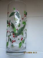 LIBBEY Christmas Holiday Glasses / Holly Berry / Highball Tumblers / 16 oz ~NWT