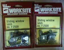 C.R. Laurence F-2509 One Pair Sliding Window Sash Lock Replacement Hardware x2