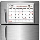 16 x 12 Monthly Magnetic Refrigerator Calendar White Dry Erase Board Organizer