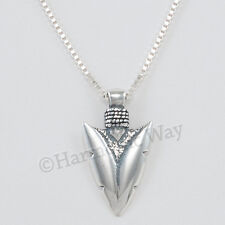 "ARROW HEAD Necklace Pendant Archery Bow Sterling Silver 18"" 925"