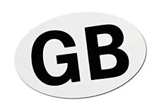 Magnetic GB Plate Oval Strong Magnet No Sticker Removable Reusable 18cm x 13cm