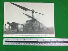 Breguet-Dorand helicopter 1937 (or earlier) publication cutting
