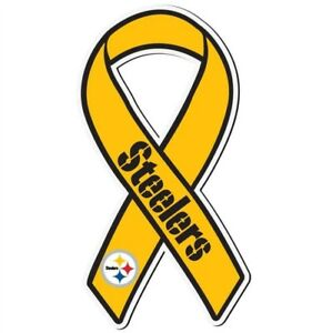 """Pittsburgh Steelers NFL 7"""" Ribbon Magnet"""