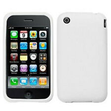 Rubberized White Candy Skin Case Apple iPhone 3G 3GS