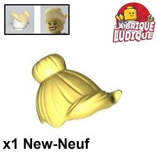 Lego - 1x Minifig cheveux coiffure hair brushing jaune c/b l yellow 93562 NEUF