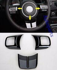 Gloss Black Steering Wheel Cover Frame trim molding For Jeep Wrangler 2011-2016