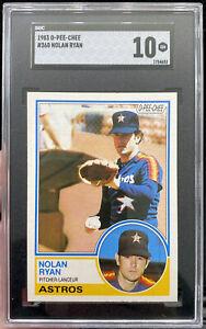 Nolan Ryan | 1983 O-Pee-Chee | SGC 10 GEM MINT | SGC POP 2 (PSA 10 POP 53) Topps