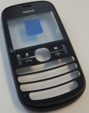 Original Nokia Asha 200 Cover Schwarz Dual Sim  Front Oberschale Housing NEU WOW