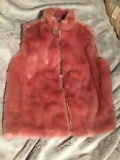 J. Crew Faux Fur Vest Glass Petal Pink Petite Large NWT